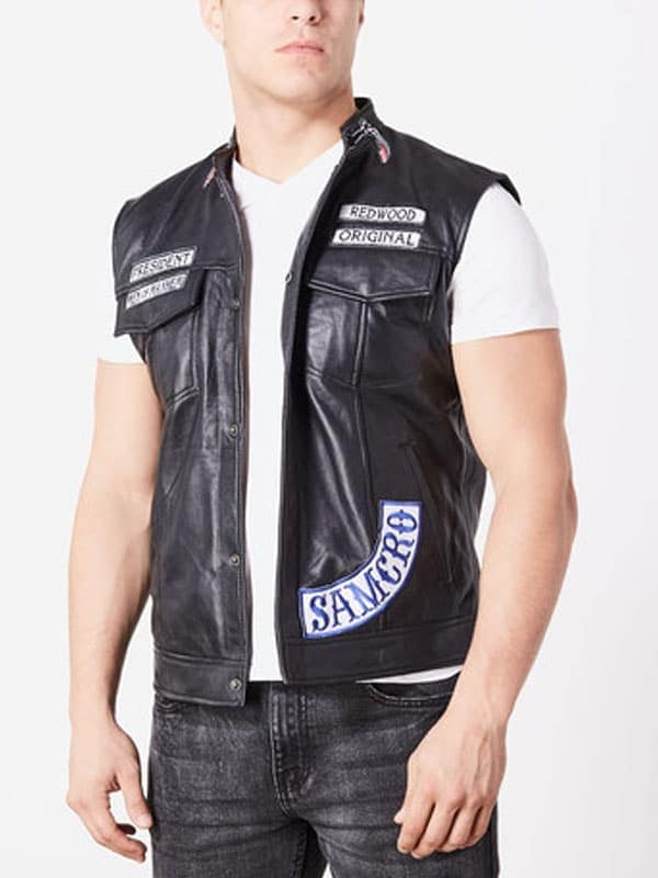jax teller leather vest