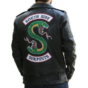 Mens Southside Serpents Leather Jacket Riverdale Black