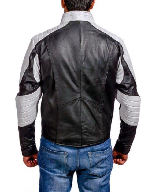 superman black and white logo jacket